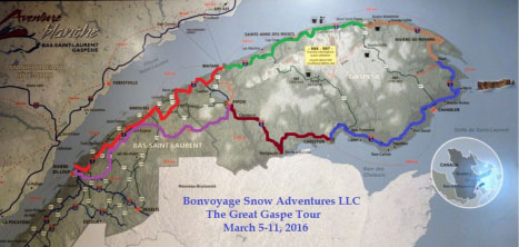 Great Gaspe Snowmobile Vacation Adventures in Quebec on